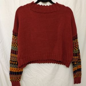 Hand knitted crop sweater